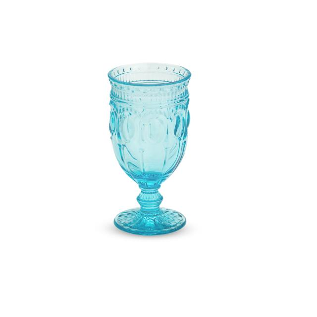 Aqua 12 ounce Can Can Glass Rack of 25