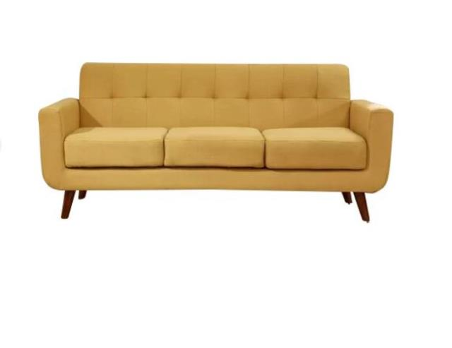 Yellow Square Arm Couch