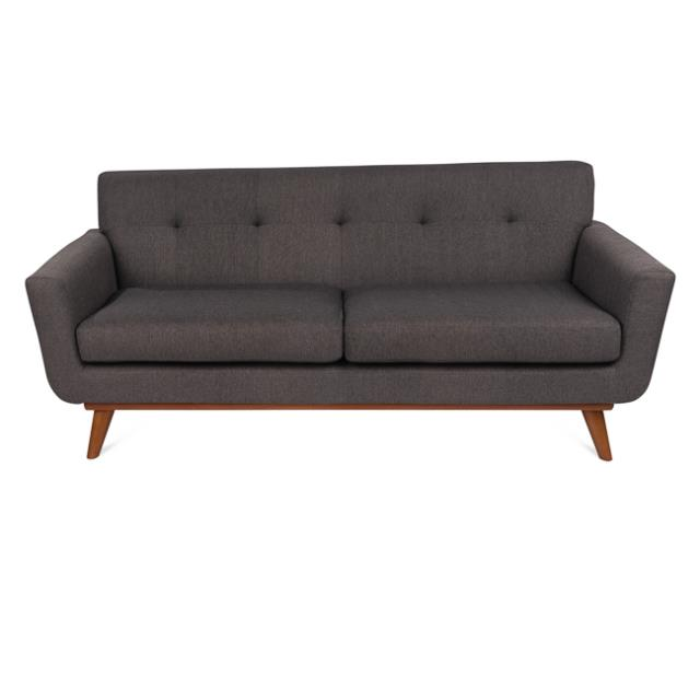 Gray Tufted Johnston Couch