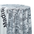 Black and White Isthmus Map Tablecloths