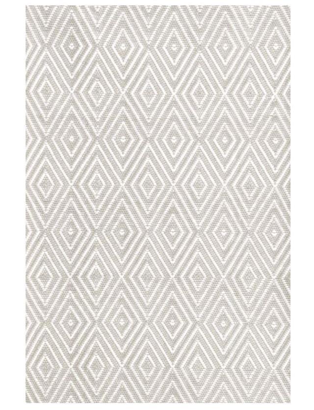 4 x 6 Platinum/White Diamond Rug