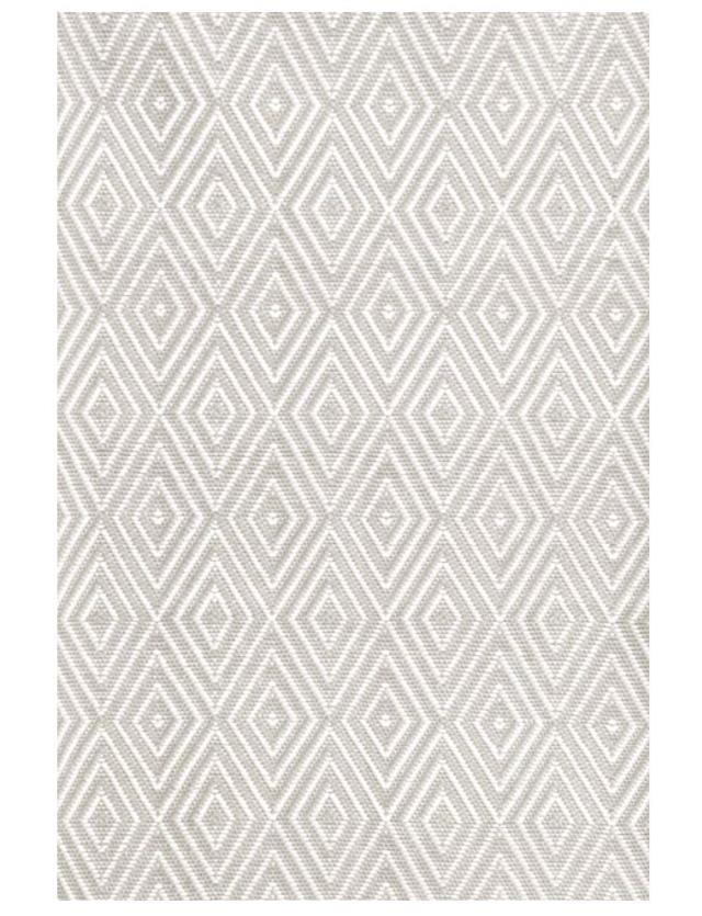 8 x 11 Platinum/White Diamond Rug
