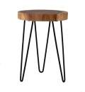 Wood Side Table 13""