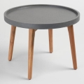 "24"" Grey Accent End Table"