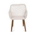 White Wicker Patio Chair