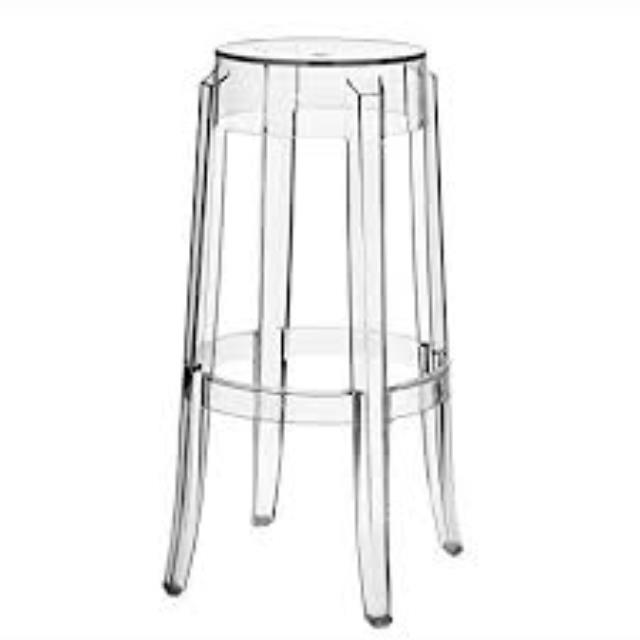 30 inch Ghost Bar Stool without Back