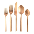 Capri Brushed Copper Flatware Pattern