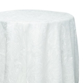 White Paisley Lace Tablecloths