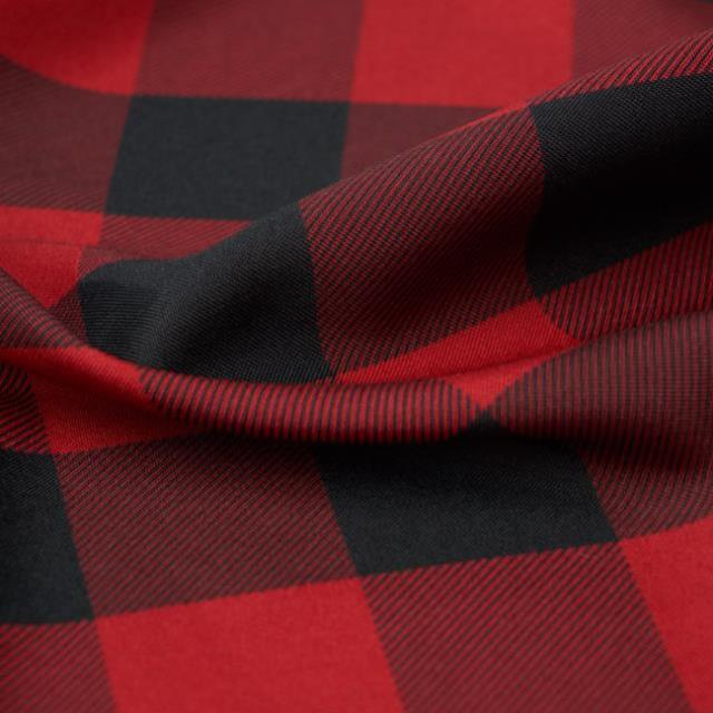Red Buffalo Check Poly Tablecloths