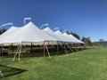 59 foot Wide Installed Sailcloth Pole Tents