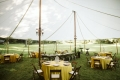 44 foot Wide Installed Sailcloth Pole Tents