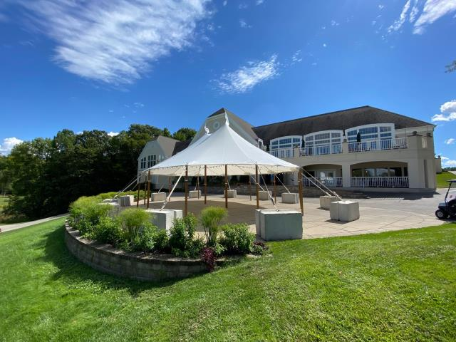 32 foot Wide Installed Sailcloth Pole Tents