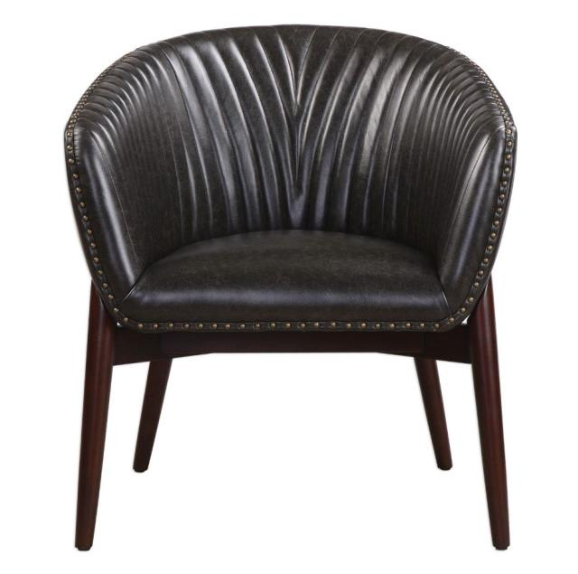 Black Anders Chenille Chair