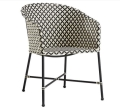 Brava B/W Wicker Chair