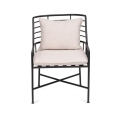 Breton Metal Chair With Ivory Cushions