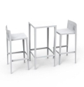 White Spritz Bar Table & Chair Set