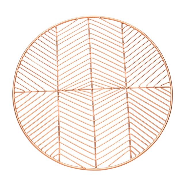 14.5 inch Round Copper Metal Place Mat