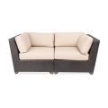 Medley Black Loveseat Wheat Fabric
