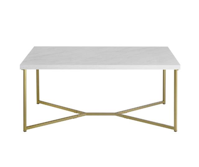 Brass & Marble Coffee Table