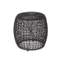 Black Wicker Stool