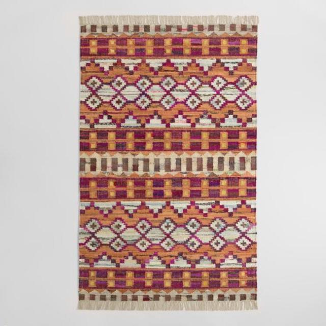 8 x 10 Woven Cotten Kilim Orissa Area Rug