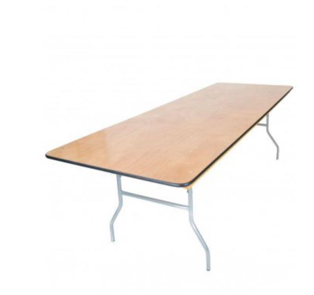 6 foot x 40 inch Wood Top Table
