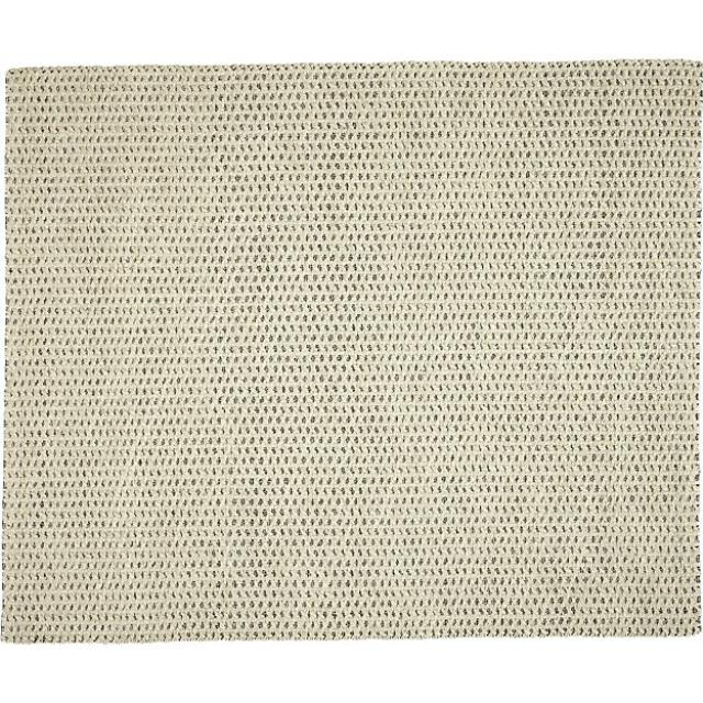 8 x 10 Jute Black And White Rug