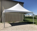 10 x 20 foot White Peak-Style Installed Frame Tent