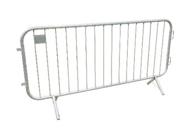 7 1/2  foot Steel Event Bike Fence With Fixed Leg