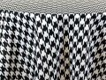 Houndstooth Black/White Check Poly Napkin Pack of 12