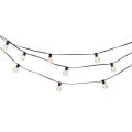 Black Led String Lights Installed