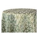 Moss Shibori Hex Tablecloths