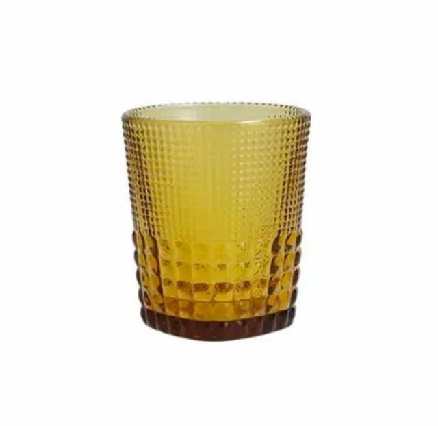 11 ounce Amber Malcolm Glass Rack of 25