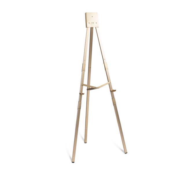 Gold Anodized Folding Poster Easel
