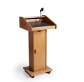 Wood Floor Podium