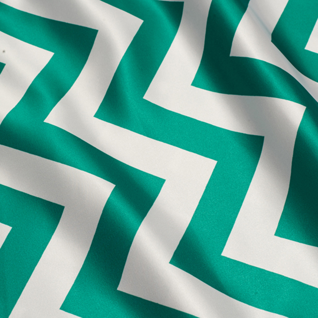 14 x 108 inch Emerald Chevron Satin Runner