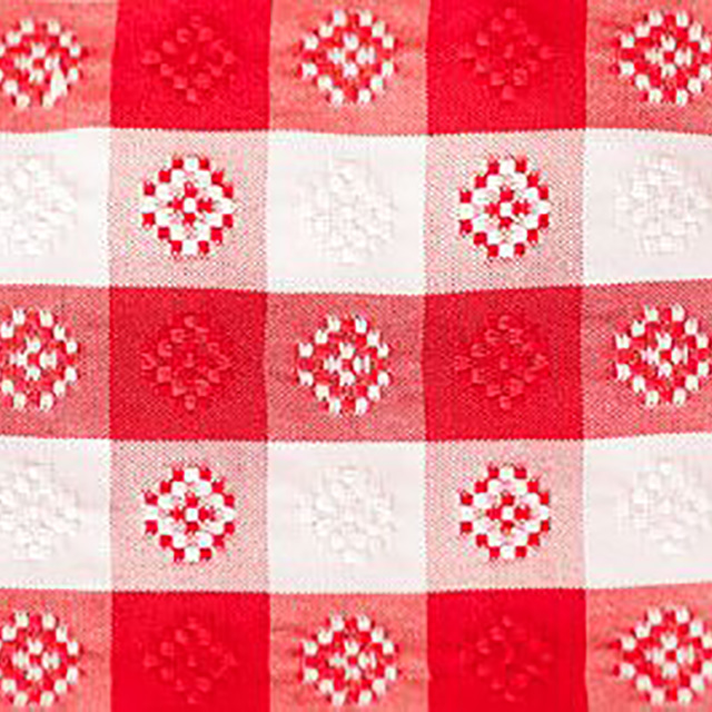 14 x 108 inch Red/White Gingham Poly Runner