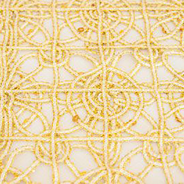 14 x 108 inch Gold Sparkle Lace Runner