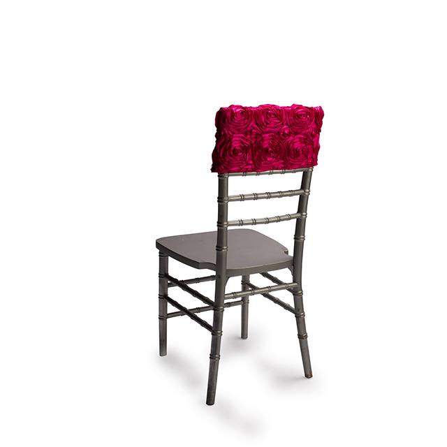 Magenta Rosette Chair Cap