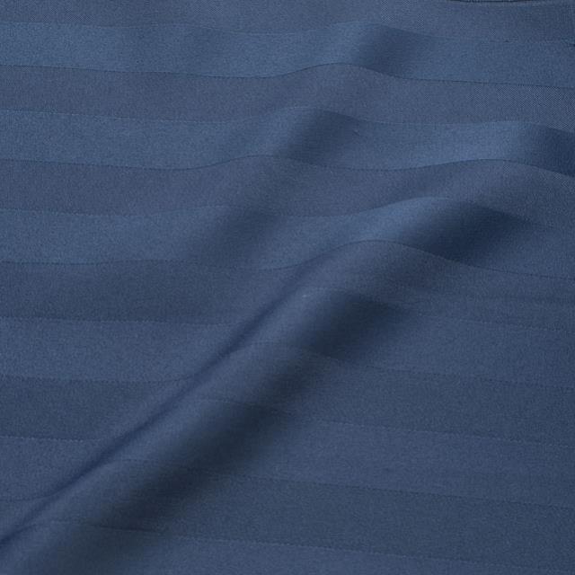 Navy Blue Satin Stripe Chair Tie