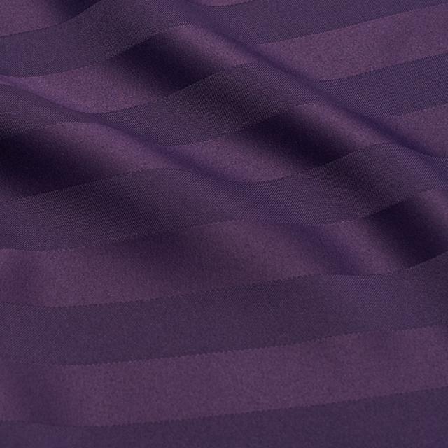 Purple Satin Stripe Chair Tie